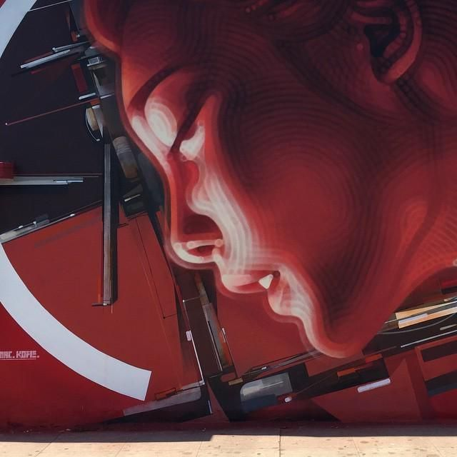 kofie mural los angeles 001 new mural by el mac and kofie in los angeles w and sweetzer street art mural los angeles kofie el mac allan jeffries framing