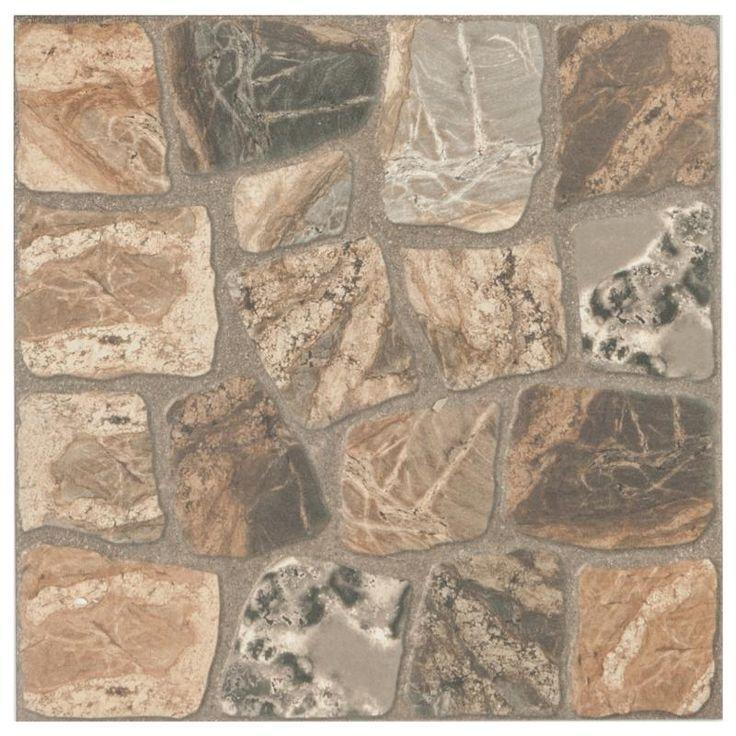 Керамогранит «Vilio Brown» 32.6х32.6 см 1.17 м2 цвет коричневый