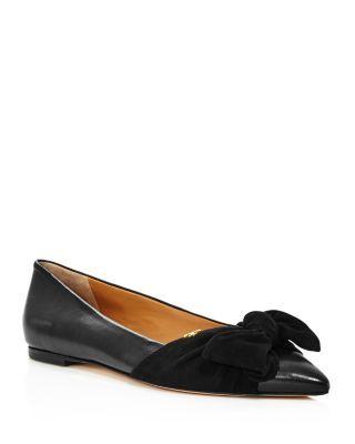ee03e5715 Tory Burch Women s Eleanor Open Toe Leather Ballet Flats