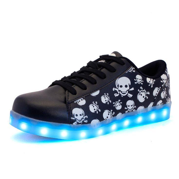 (Presente:peque?a toalla)Dorado EU 41, colores LED Silver moda plata 7 Hombres Zapatos Lig