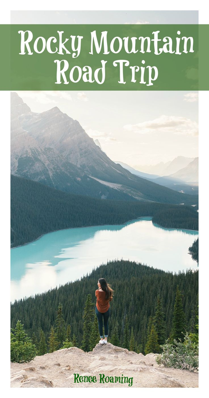 Rocky Mountain Road Trip, through Canada & the USA. Read more for hiking tips, adventures ideas, photography locations & destination advice. Includes Colorado, Wyoming, Montana, Banff, Jasper, Alberta. Renee Roaming - http://wwww.reneeroaming.com / Travel / Wanderlust / Dream Destination / Bucket List / Romantic / Couple Travel / Road Trip / Camping /