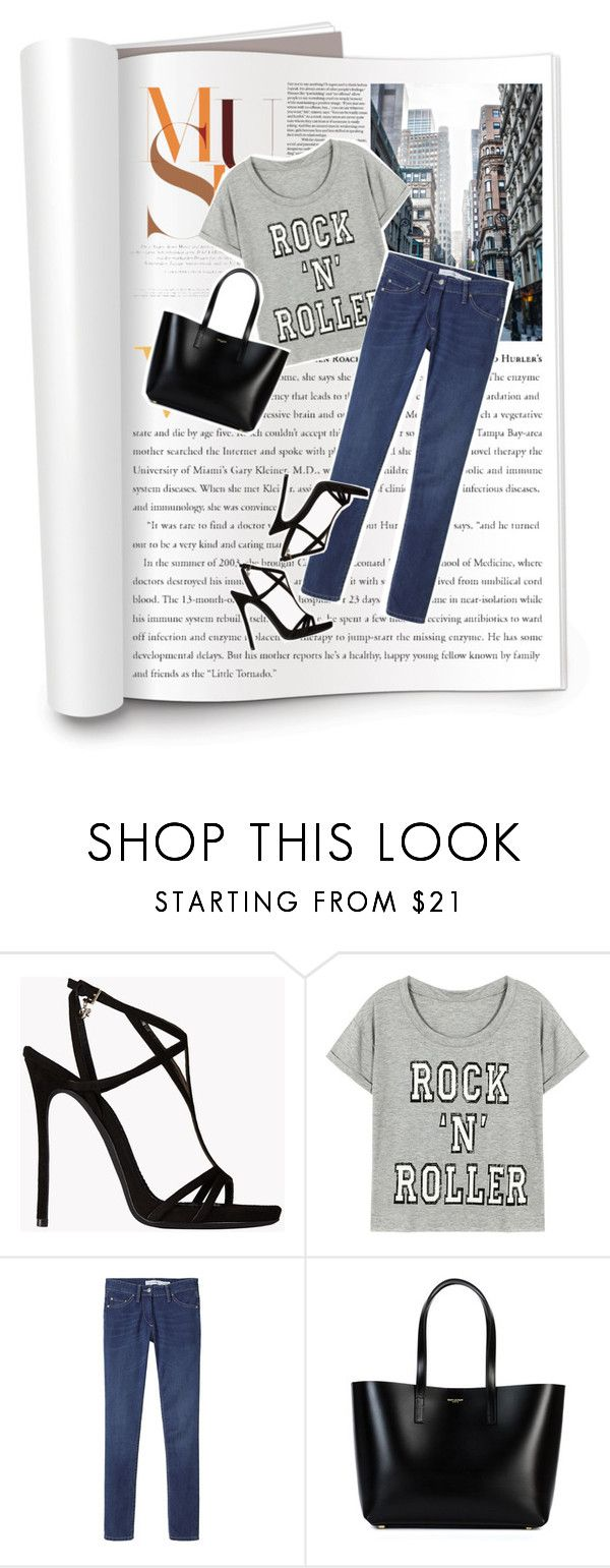 """""""Casual & Chic"""" by mara-petcana ❤ liked on Polyvore featuring Dsquared2, Étoile Isabel Marant and Yves Saint Laurent"""