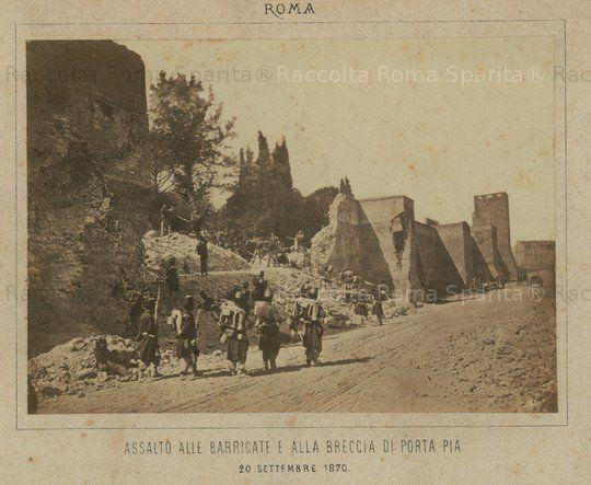 Porta Pia Descrizione: Breccia di Porta Pia Anno: 20 Settembre 1870
