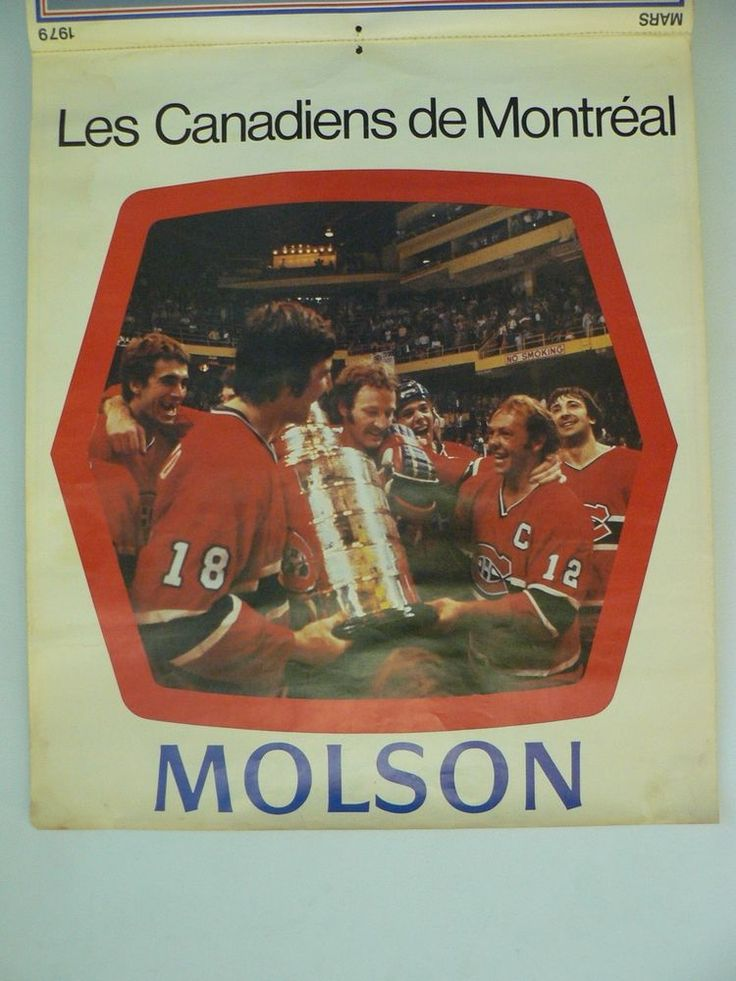 1978-79 molson montreal canadiens full calendar from $0.99