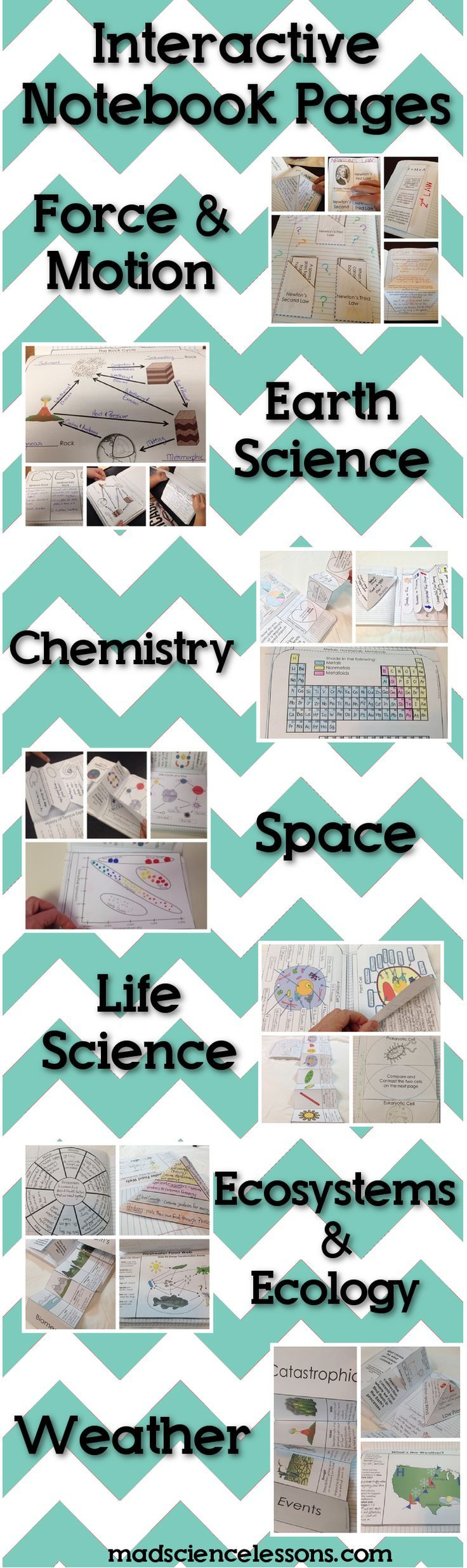 Interactive Notebook Pages for Science Journals -  Loaded with tons of great activities.  Includes all 7 of my best selling science interactive notebooks.