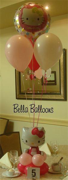 Hello Kitty Balloon Centerpiece - 18