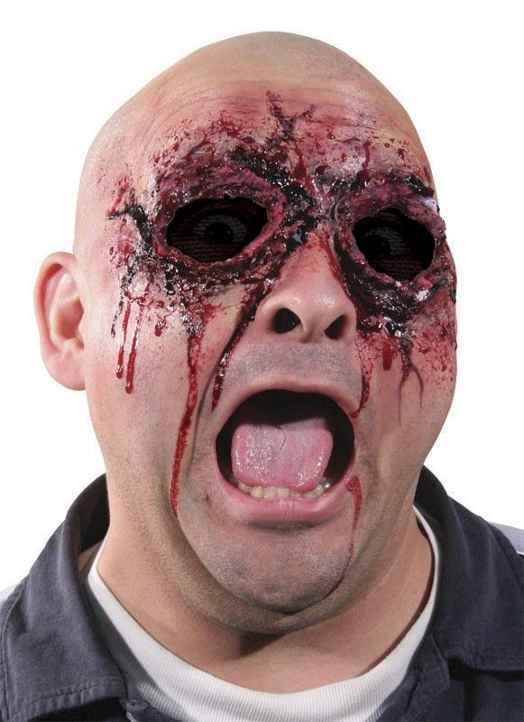 Description #WO328 Includes: Latex prosthetic that appears you have had your eyes torn out. Spirit gum, flesh latex, blood and makeup sold separately.