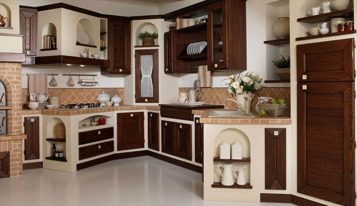 30 Cucine in Muratura Rustiche dal Design Classico   MondoDesign.it