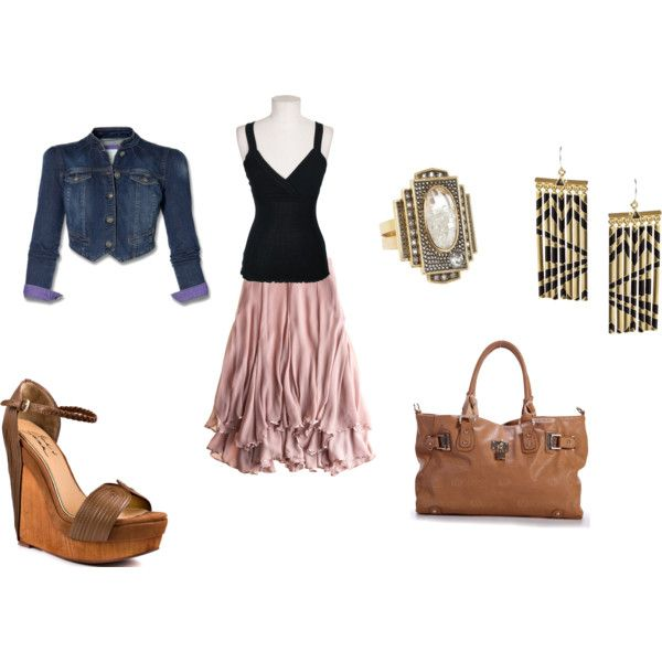 light pink skirt outfit