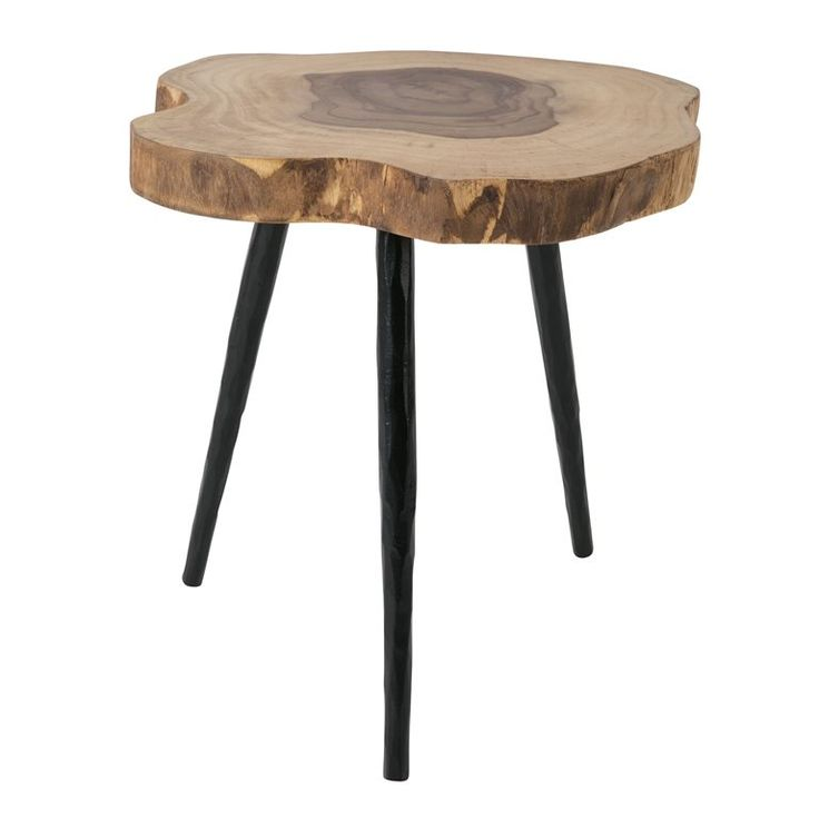 Het lijkt net alsof de poten van de Dutchbone Clay bijzettafel van klei zijn gemaakt, maar nee; ze zijn toch echt van ijzer. Deze klei-look, gecombineerd met het rauwe houten tafelblad, geeft dit bijzettafeltje een robuuste en pure persoonlijkheid!