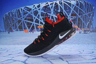 90e6bcc1a3183 Nike LeBron 15 Low Black Red White AO1755 608 Men's Basketball Shoes James  Shoes