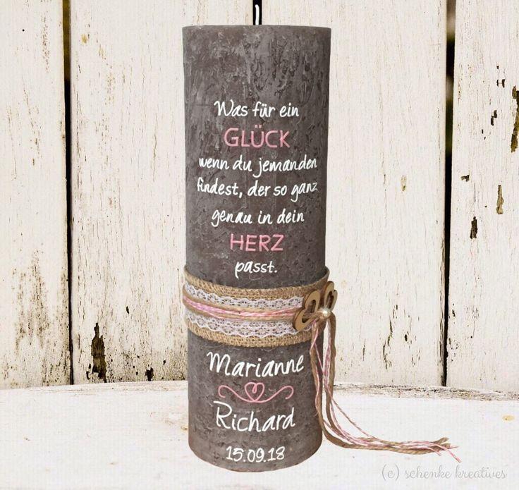 Wedding candle, wedding candle, wedding ceremony, rustic candle, rustic, rustic, vin …  – Hochzeit