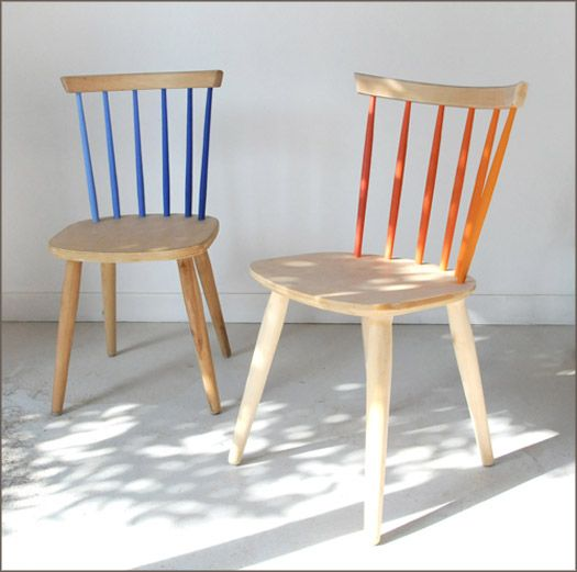 We Think The Gradated Paint On Vertical Back Posts Of These Wooden Chairs Gives Them Great Character And Charm You Could Order Done From Colonel