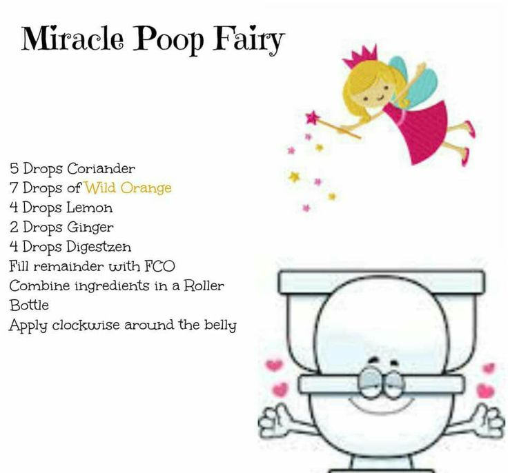 Miracle poop fairy. Essential oil relief for constipation.