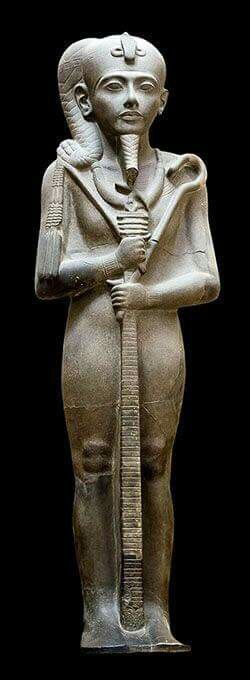 Sculpture of the Ancient Egyptian God Khonsu from the Khonsu Temple at Karnak. •Egyptian Museum,Cairo•