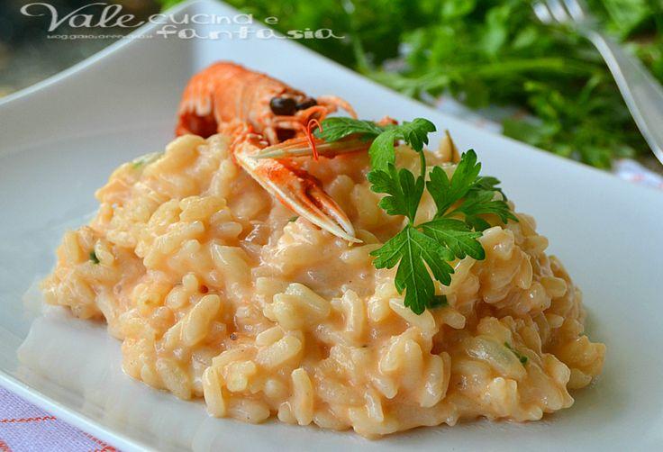 Risotto alla crema di scampi ricetta primo piatto di pesce
