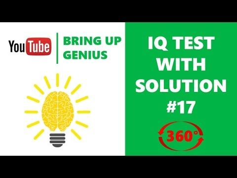 Next question | IQ test | IQ question with answer 17 | vr 360 video - YouTube