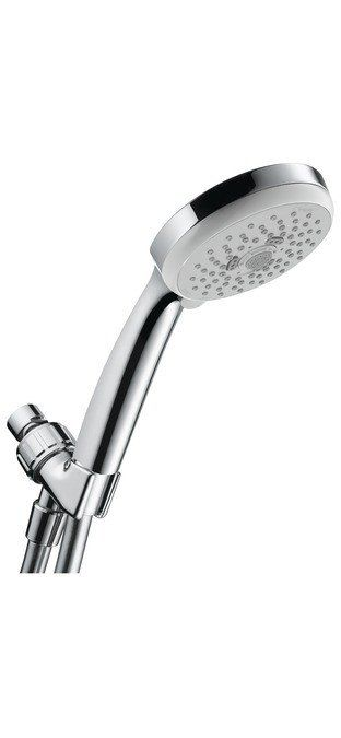 Hansgrohe Hand Held Shower Set Hansgrohe Hand Held Shower Set Review Acclaimed for its sleek European style and German performance standards, this Hansgrohe Hand Held Shower Head offers a clean, and m