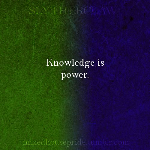SLYTHERCLAW - Knowledge is power. Mixed House Pride | Slytherclaw