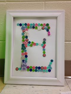 100th Day Idea - use buttons for first letter of name. Not only cute homework but useful afterward!