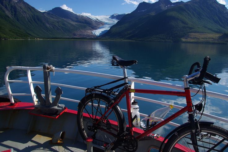 #Svartisen #Meløy #Kystriksveien #Norway Bike rental is available at the dock at Svartisen. Photo: Reinhard Plankte.  www.kystriksveien.no