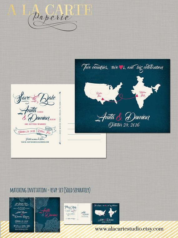 India USA  Two Countries Two Hearts One big by alacartestudio
