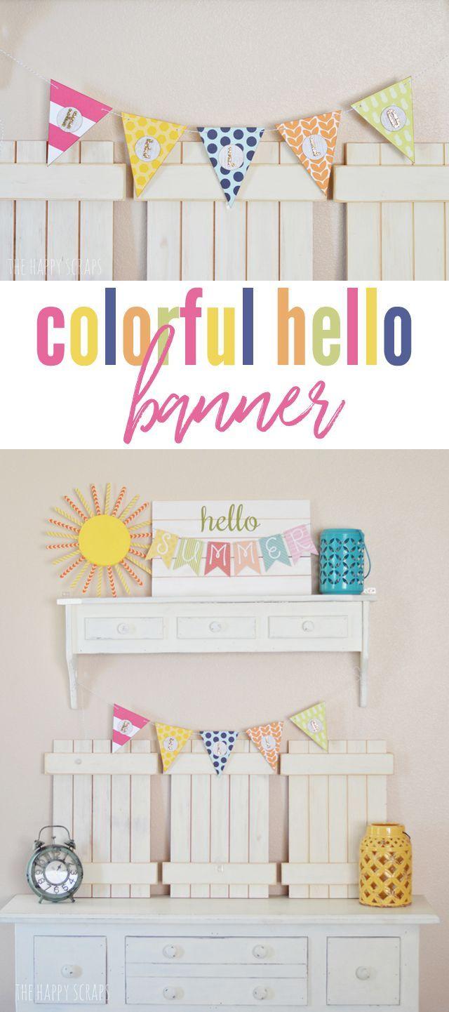 colorful hello banner craft ideas pinterest crafts paper rh pinterest com