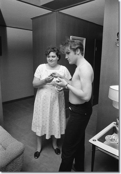 Elvis and his mom Gladys