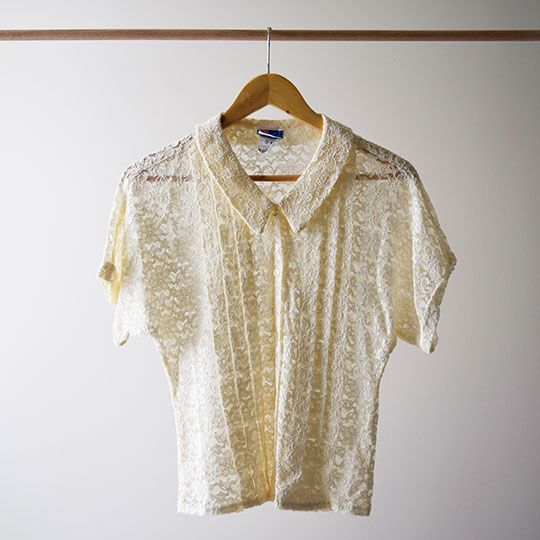 Made By Mee + Co | Lace Short Sleeve Blouse