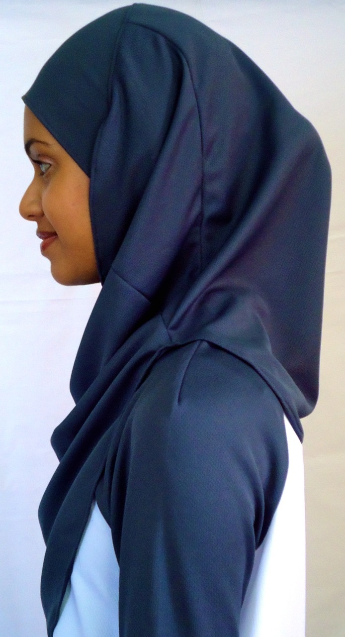 Charcoal sports hijab #islamicsportswear