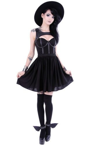 Restyle-Gothic-Kleid-Rockabilly-Tainted-Love-Dress-Nugoth-Pin-Up-Gothabilly-WGT