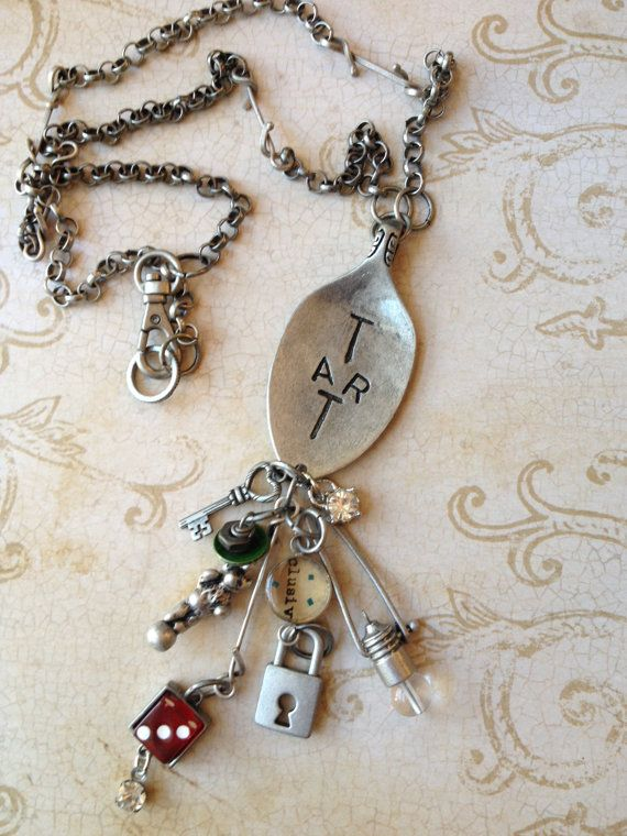 Industrial Chic Articake Spoon Mixed Media by MyTrendyTrinkets, $45.00