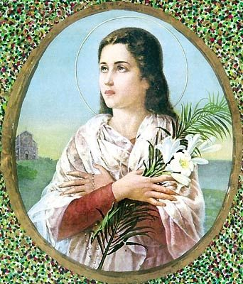 St. Maria Goretti, virgin and martyr.