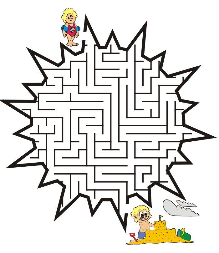 Sun shaped maze from PrintActivities.com