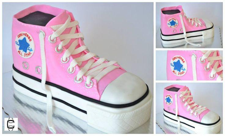 Converse tennis shoes cake / Converse 3d cake / Pastel de tenis converse /