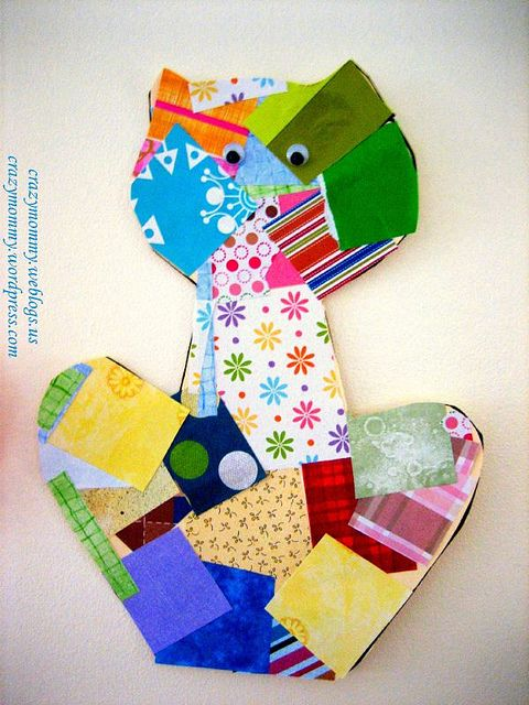 Paper Collage Cat Craft by crazymommy, via Flickr