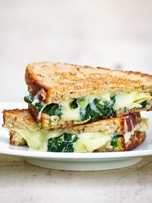 Spinach artichoke grilled cheese #recipes