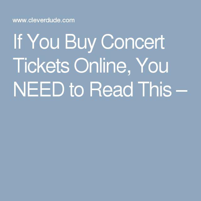 The 25+ best Buy concert tickets ideas on Pinterest Wedding - make concert tickets