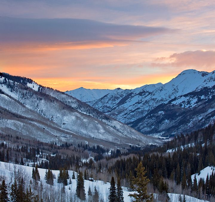 Red Mountain Pass,Colorado,sunrise, photo by Stan Rose