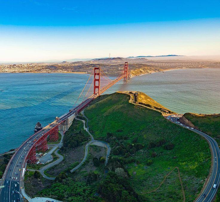 Golden Gate Bridge San Francisco by @maverickhelicopters #sanfrancisco #sf