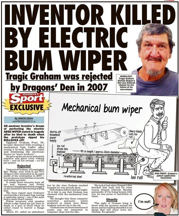 """Nasty way to go. 