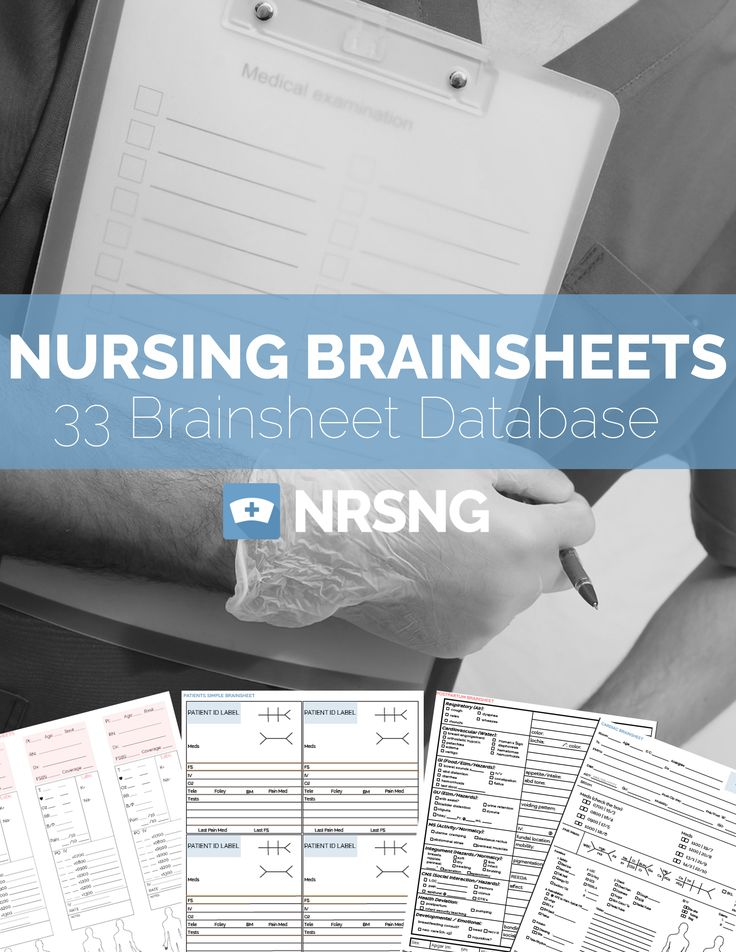wow. 33 free nursing brain sheet templates!