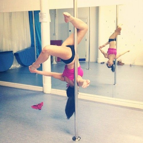That's what we need in town a stripper pole class.. Awesome for the upper body and core..