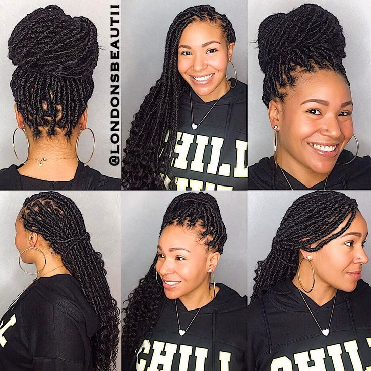 Goddess Faux Locs done by London's Beautii in Bowie, Maryland. www.styleseat.com/v/londonsbeautii