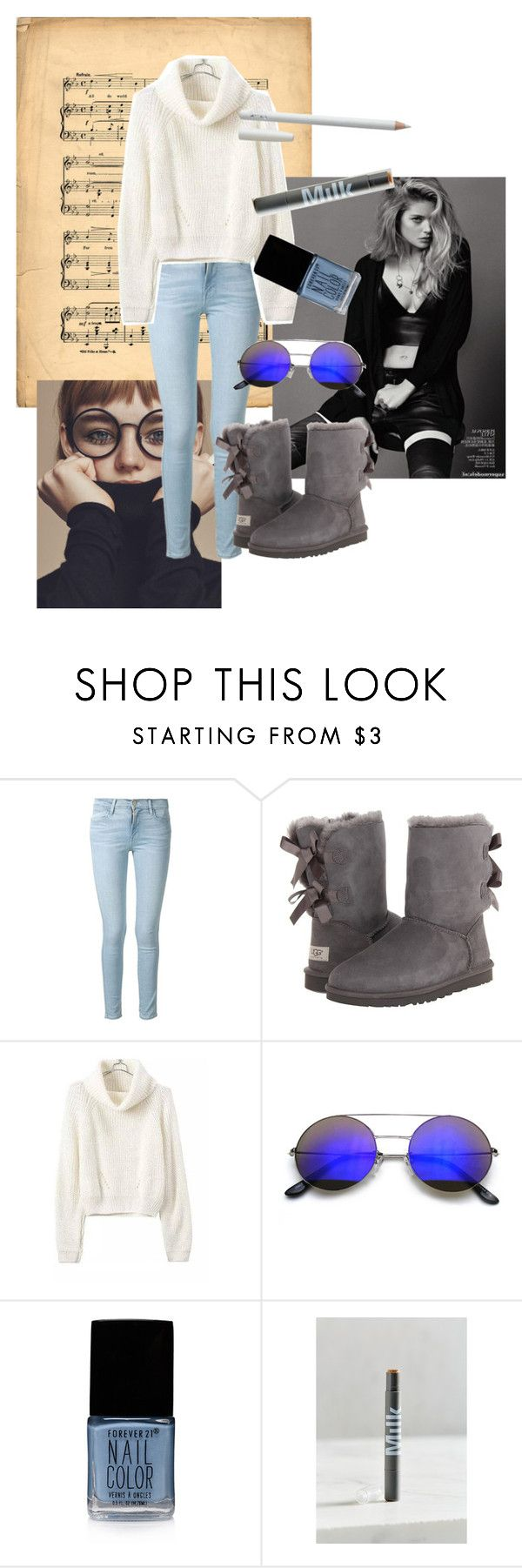 """Love these boots!"" by horsingaroundtomboy ❤ liked on Polyvore featuring Frame Denim, UGG Australia, Forever 21 and MILK MAKEUP"