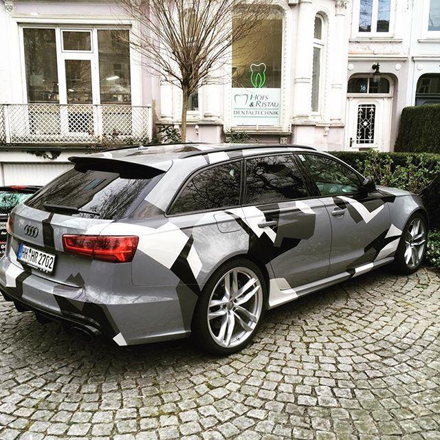 Camo Audi Rs6 Hamburg Germany Car Carspotting Use Instagram Online Webs Fahrzeugfolierung Audi Rs6 Autofolierung