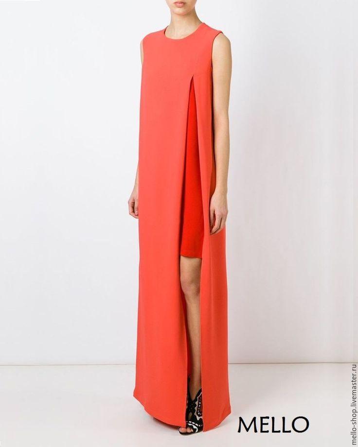Купить Платье вечернее длинное в пол красное платье от MELLO - Платье нарядное, платье в пол