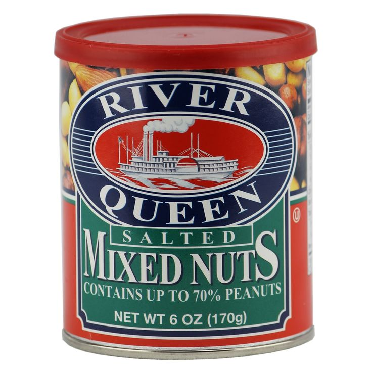 River Queen Salted Mixed Nuts, 6 Ounce
