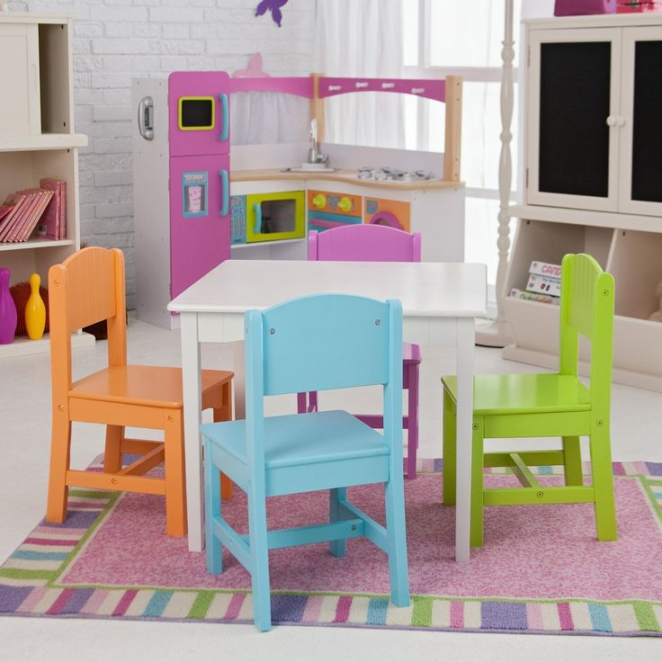 Kitchen Table And Chairs Amazon: Amazon.com: KidKraft KidKraft Nantucket Big N Bright Table