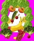 """My 1st graders used """"Faces iMake"""" to create fruit and veggie portraits as an extension to another lesson."""
